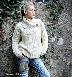 Aran Isle Sweaters - how a dropped stitch gave rise to a popular ...